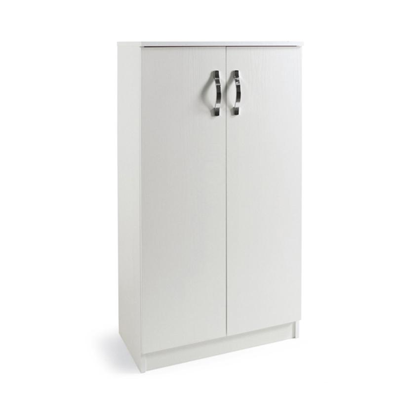 Armadio scarpiera multiuso Bianco in legno nobilitato 2 ...
