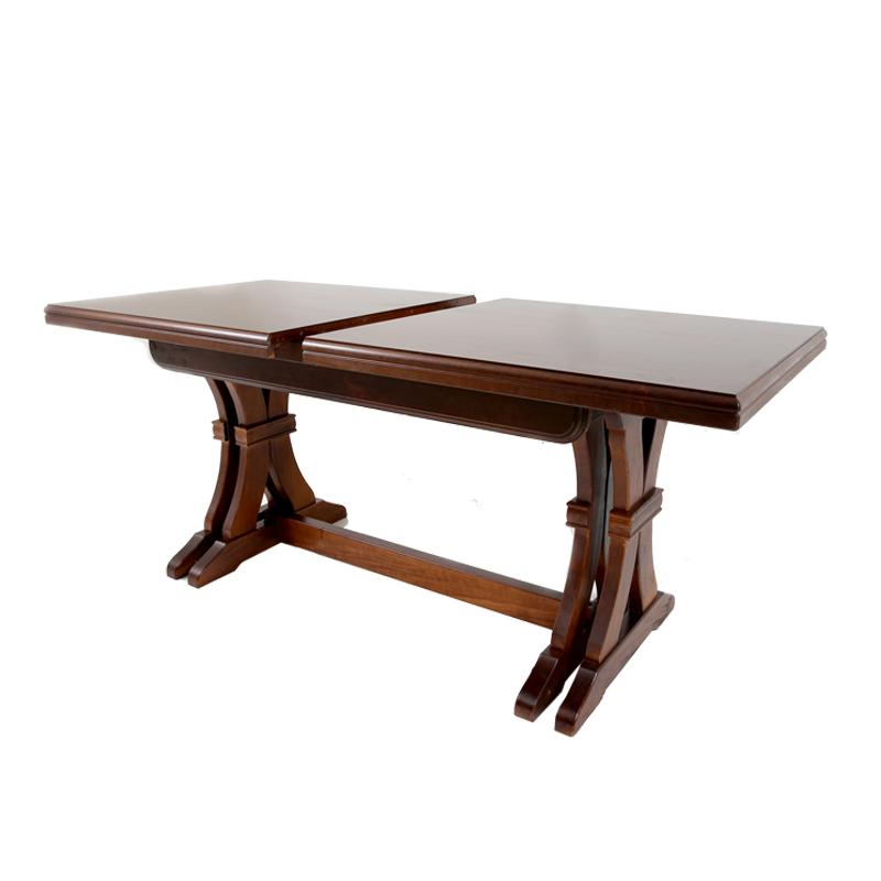 Tavolo in legno massello rettangolare allungabile colore ...