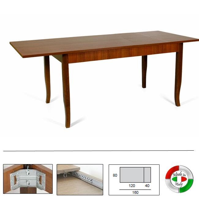 Tavolo pranzo allungabile interamente legno nobilitato ...